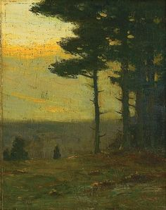 """""""Afterglow,"""" Charles Warren Eaton, oil on panel, 10 x 8"""", private collection."""
