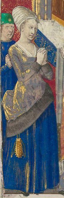 Titre : « Le Livre des faiz monseigneur saint Loys », composé à la requête du « cardinal de Bourbon » et de la « duchesse de Bourbonnois ». Date d'édition : 1401-1500 Français 2829 folio 84v