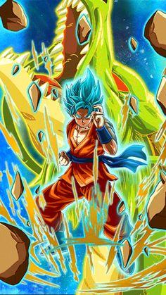 Super Saiyan Blue Goku! Dope art for this card! Shout out to namco bandai.. #dokkanbattle