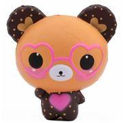 squishy orso marrone occhiali