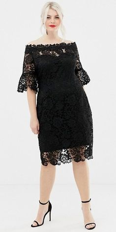 Party look plus size outfit ideas Cocktail Dresses With Sleeves, V Neck Cocktail Dress, Plus Size Cocktail Dresses, Plus Size Party Dresses, Party Dresses For Women, Plus Size Outfits, Crochet Midi Dress, Plus Sise, Look Plus Size