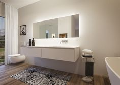 Umbau Bad Double Vanity, Bathroom Lighting, Interior Design, Mirror, House, Furniture, Bathroom Ideas, Home Decor, Street