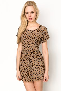everything5pounds WE GET NEW STOCK EVERY DAY Animal Print Skater Dress