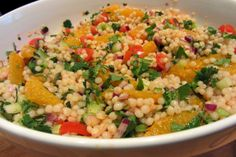Slimming World Delights: Orange,Harissa and Giant Cous Cous Salad