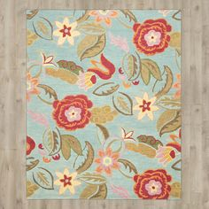 August Grove Canon Hand-Hooked Blue Area Rug & Reviews | Wayfair