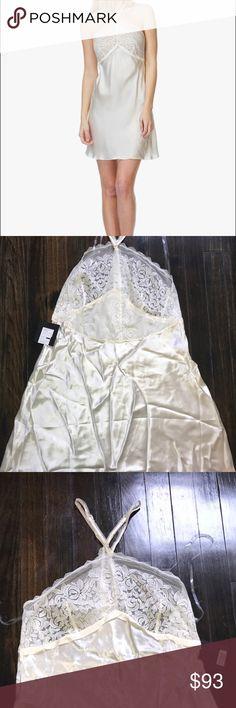 Calvin Klein Black Silk Chemise - Ivory Gorgeous halter neck chemise in pure silk from Calvin Klein Black collection - a luxury line of irresistibly feminine lingerie. Calvin Klein Intimates & Sleepwear Chemises & Slips