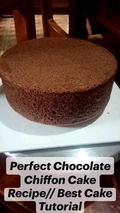 Chocolate Chiffon Cake, Chocolate Cake, Dump Cake Recipes, Dessert Recipes, Frozen Fever Cake, Pretty Birthday Cakes, Cake Mix Cookies, Cake Tutorial, Cake Designs