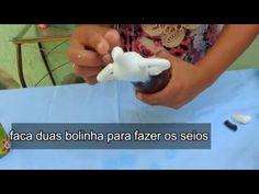 Bonequinhas afro de biscuit - YouTube