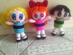 Crocheted Bubbles of the Powerpuff Girls by Addydgreat on Etsy, $30.00