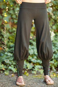 23c5e669f5dd8 Tribal Yoga Harem Pant with lace up applique - Yoga Wear - Harem Pants