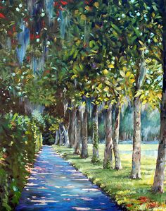 Painting of Beautiful Pathway