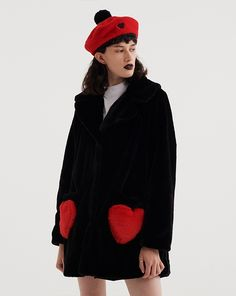 89782be468b94 Lazy Oaf Queen Of Hearts Coat Butterfly Fashion