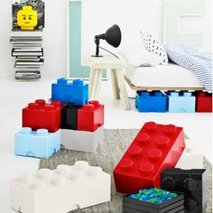 Stackable lego storage