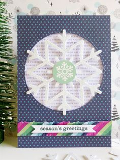 Pebbles - Winter Wonderland - Snowflake card