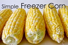 Instead of peeling and boiling all the nutrients out place 4 ears in the microwave (husk and all) zap for 6 to 8 minutes, depending on the size of your microwave, and then peel, cut off the cob and freeze on your trays. So much easier!