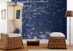 Relaxing Room with Sea Wallpaper