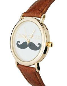 Image 3 ofASOS Bonjour Moustache Watch