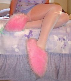 Big fuzzie slippers!  I had some just like this.