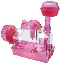 NEW Magical Pink Hamster Home.Fun Tubes.Gerbil Exercise Wheel.Family Pet Cage.