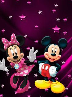Mickey e Minnie Arte Do Mickey Mouse, Minnie Mouse Images, Mickey Mouse Pictures, Mickey Mouse Cartoon, Mickey Mouse And Friends, Disney Mickey Mouse, Mickey Mouse Wallpaper, Disney Phone Wallpaper, Disney Cartoon Characters