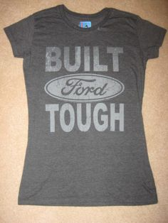 BUILT FORD TOUGH car truck SUV motor Vintage Retro Women's JUNIORS New t-Shirt