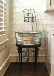Such a cute idea in a mud room.