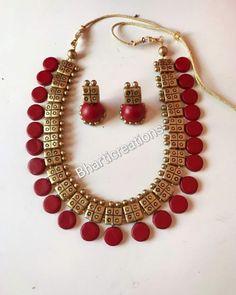 Jewelry Design Earrings, Funky Jewelry, Jewelry Model, Clay Jewelry, Jewelry Crafts, Beaded Jewelry, Terracotta Jewellery Making, Terracotta Jewellery Designs, Terracotta Earrings