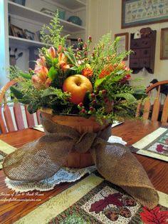 DIY ~ Fall Apple Harvest Basket Centerpiece