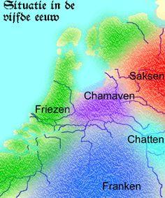 Nederland in de vijfde eeuw.