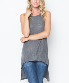 Look what I found on #zulily! Heather Charcoal Hi-Low Tunic #zulilyfinds