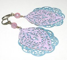 Filigree Earrings, Hand Painted by groovychickjewelry, $15.50