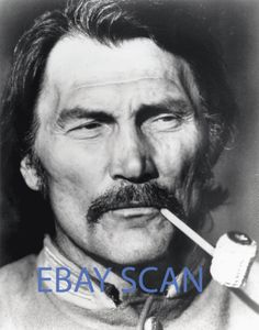 JACK-PALANCE-488-B-W-8x10-Photo-HANDSOME-CLOSE-UP-with-Pipe