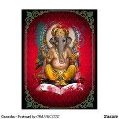 Ganesha - Postcard Anniversary Quotes, Custom Greeting Cards, Ganesha, Shops, Paper Design, Thoughtful Gifts, Note Cards, Paper Texture, Lion Sculpture