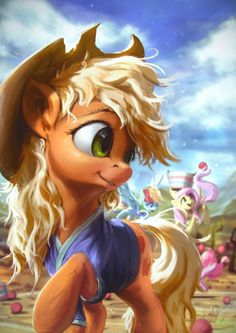 The Apples Buckball by AssasinMonkey Those messy manes on Rainbow and Applejack were too adorable o3o