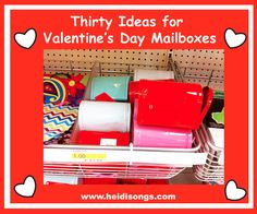 Heidisongs Resource:  Thirty Quick Ideas for Valentine's Day Mailboxes!