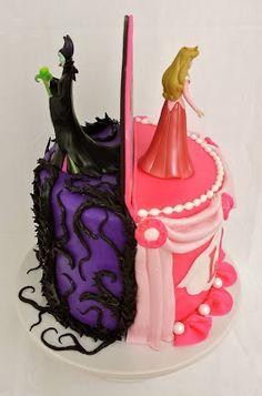 Cake Blog: Sleeping Beauty (Aurora/Maleficent) Cake