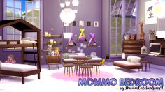 The Sims 4 | Mommo Bedroom Set by DreamCatcherSims4 | buy mode new objects kids room deco bunk bed