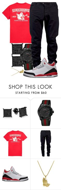 """Im Back In The Studio Finally Yo"" by crenshaw-m4fia ❤ liked on Polyvore featuring Gucci, True Religion, Julius, Retrò, Roial, men's fashion and menswear"