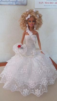 Doll Dresses, Girls Dresses, Flower Girl Dresses, Barbie Bridal, Princess Gowns, Wedding Doll, Bridal Gowns, Wedding Dresses, Bride Dolls
