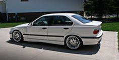 white bmw sedan on BBS RC wheels E36 Sedan, E36 Coupe, Bmw E36, E30, Bmw 2002, My Dream Car, Dream Cars, E36 Compact, New Dirt Bikes