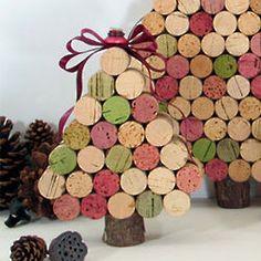 Wine cork Handmade Christmas Ornaments   Christmas Ornaments: Recycled Wine Cork Christmas Ornaments