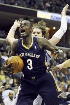 New Orleans Pelicans  Anthony Morrow is pressured by Memphis Grizzlies   Mike Miller in the first half of an NBA basketball game in Memphis 29d45fc78