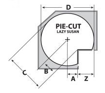 Pie Cut Cabinet Lazy Susan | How-to Library | Shop & Save at CabinetParts.com