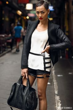Micah Gianneli_Jesse Maricic photographer_Controle Creatif_Saxony_Saxony editorial campaign_Street style fashion editorial_Short suit_Melbou...
