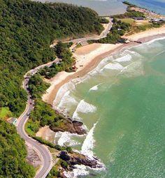 Praias de Itajaí, Santa Catarina, Brasil.