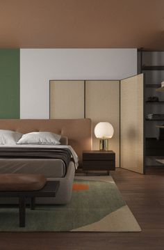 Hotel Bedroom Design, Interior Architecture, Interior Design, Sofa Bed, Interior Inspiration, Guest Room, Master Bedroom, Sweet Home, Japanese Modern