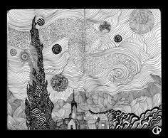 my version of Starry night by Giovanni-Palma on deviantART