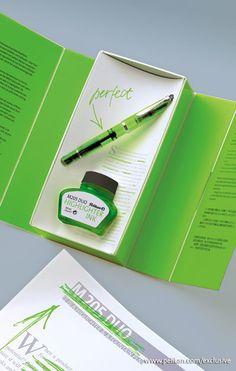 Pelikan M205 Duo Highlighter Fountain Pen set - Shiny Green