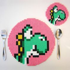 This is a fantastic idea for using Hama beads!