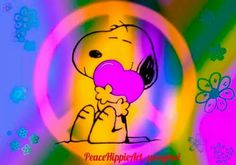 "Peace sign Snoopy.   (no words - ""☮❤~Paz ~❤☮"")   --Peanuts Gang/Snoopy"